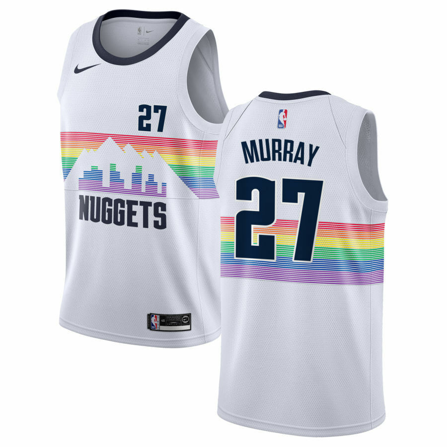 cee3563343d Details about Nike 2018-2019 NBA Denver Nuggets Jamal Murray  27 City  Edition Swingman Jersey