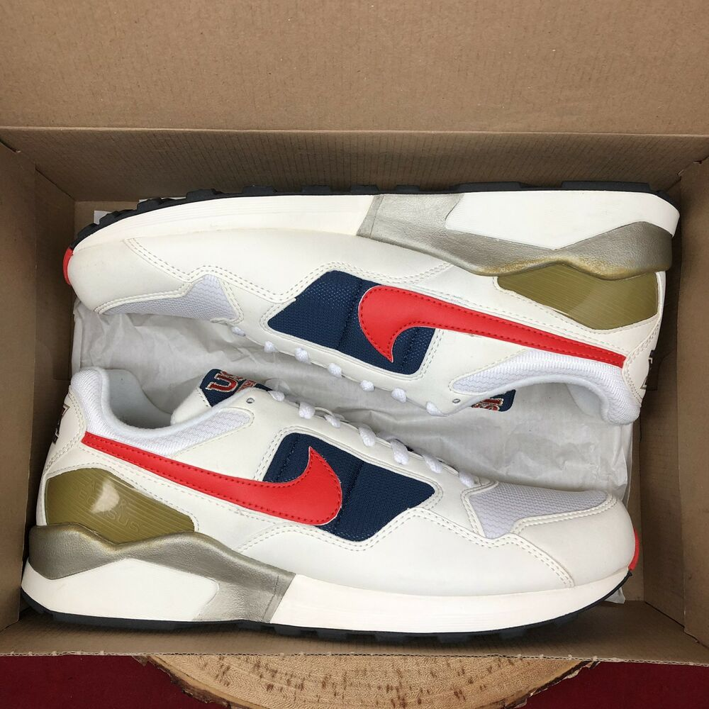 e55e437fc7e4 Details about Nike Air Pegasus 92 QS 617125 641 Max Olympic USA Red White  Blue Track Field 11