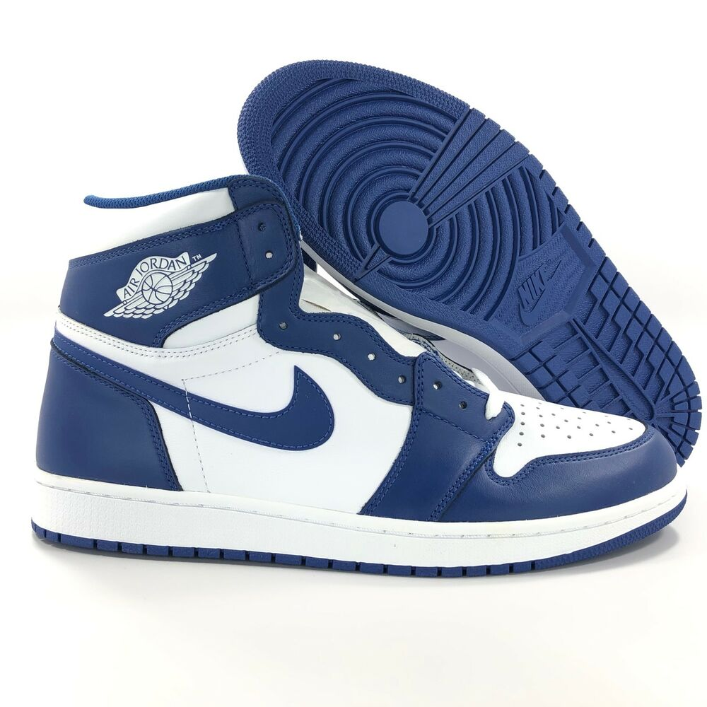 ef3bf08d1249ac Details about Nike Air Jordan 1 Retro High OG Storm Blue White 555088-127  Men s 10.5