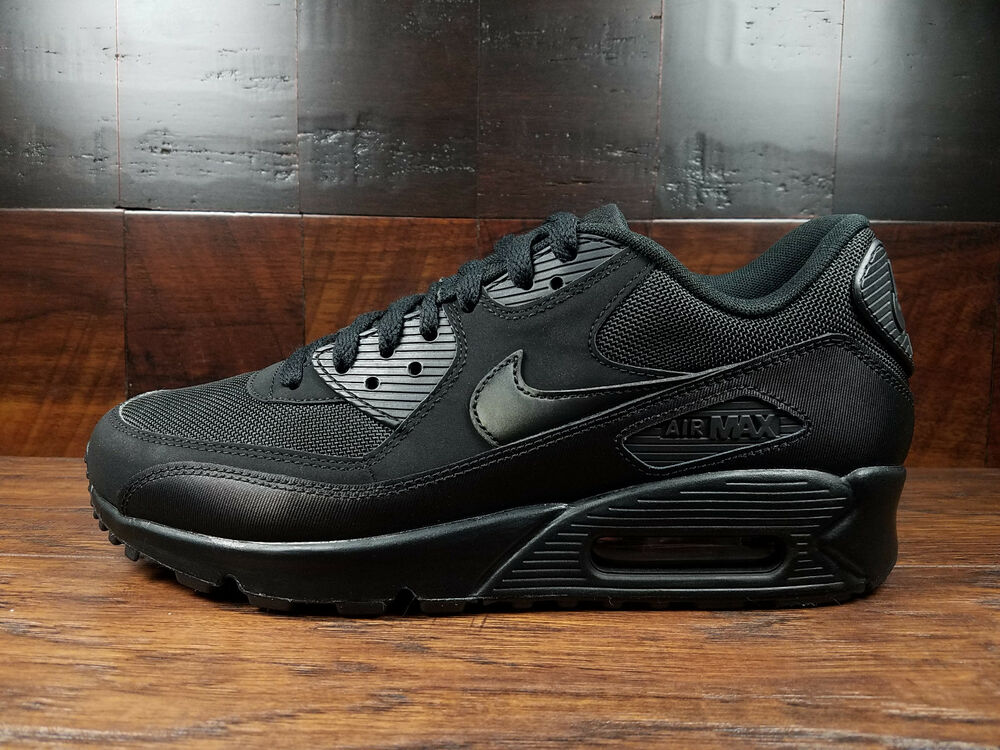 sports shoes 071d8 ec26c Details about Nike Air Max 90 Essential AM90 (Triple Black)  537384-090   Mens 8-13
