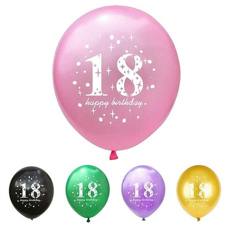 Details About 10pcs Set Happy 18th Birthday Balloons For Party Supplies Decor New LCF