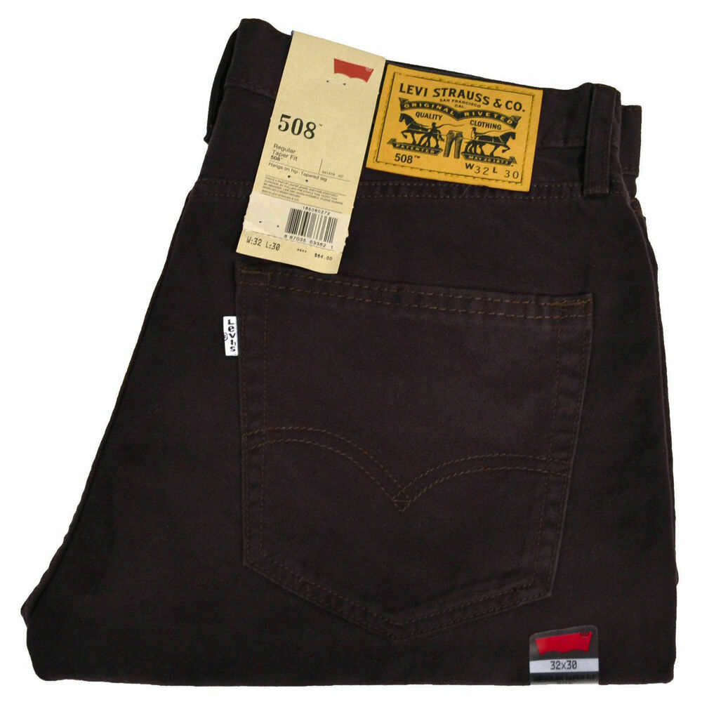 8d40bf5b9fa Details about Levis 508 Mens Jeans Regular Taper Fit Casual Denim Pants  Bottoms 29x30 29x32