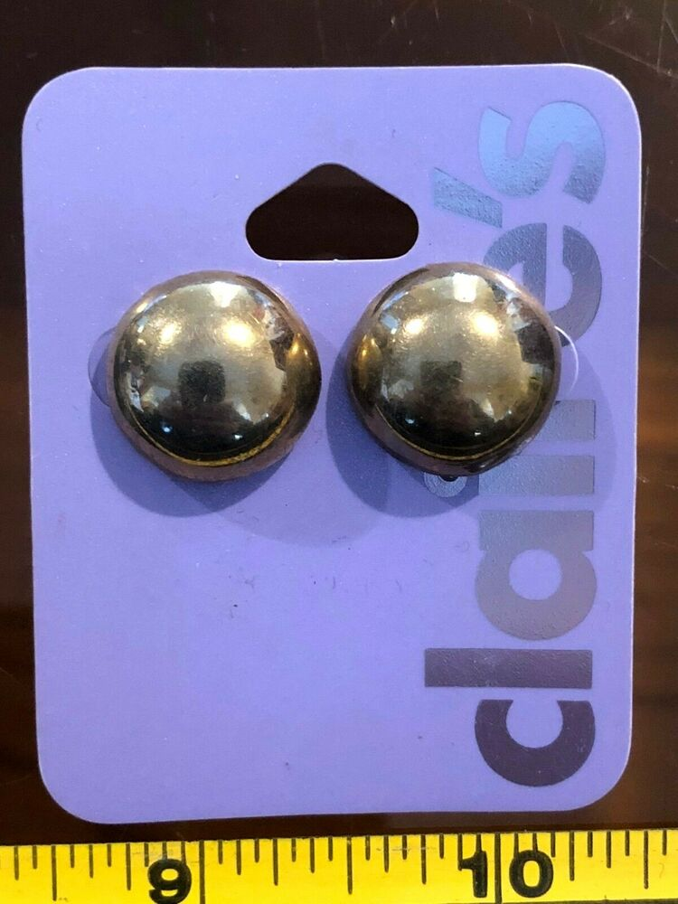 Claires Claire/'s Earrings Metallic Bronze Spikey Hoops 30mm Jewellery RRP £4