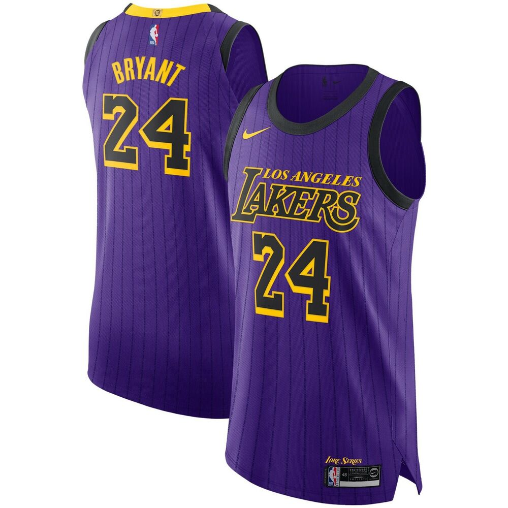 f915176f52b Details about Nike 2018-2019 Los Angeles Lakers Kobe Bryant 24 City  VaporKnit Authentic Jersey