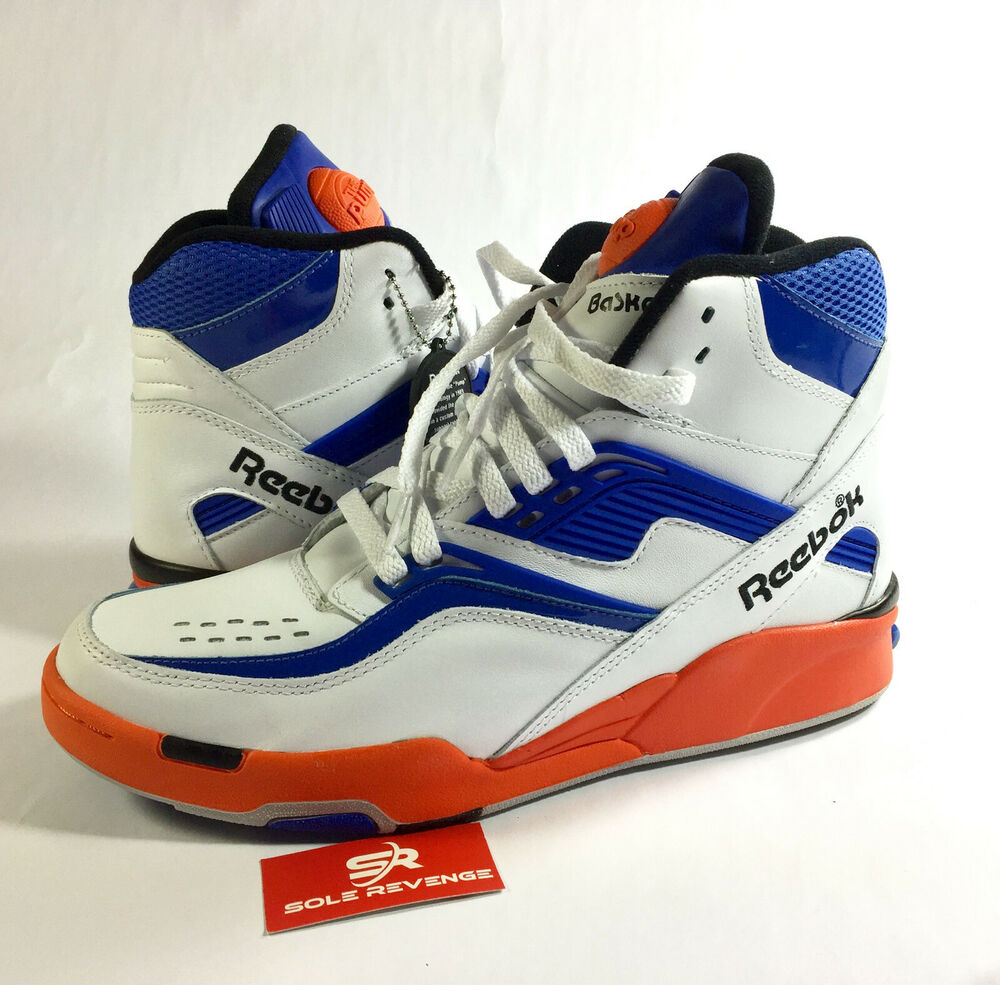 b7ec7a5e401 Details about New Reebok V48633 Pump TWILIGHT ZONE Dominique Wilkins White  Blue Orange Shoes