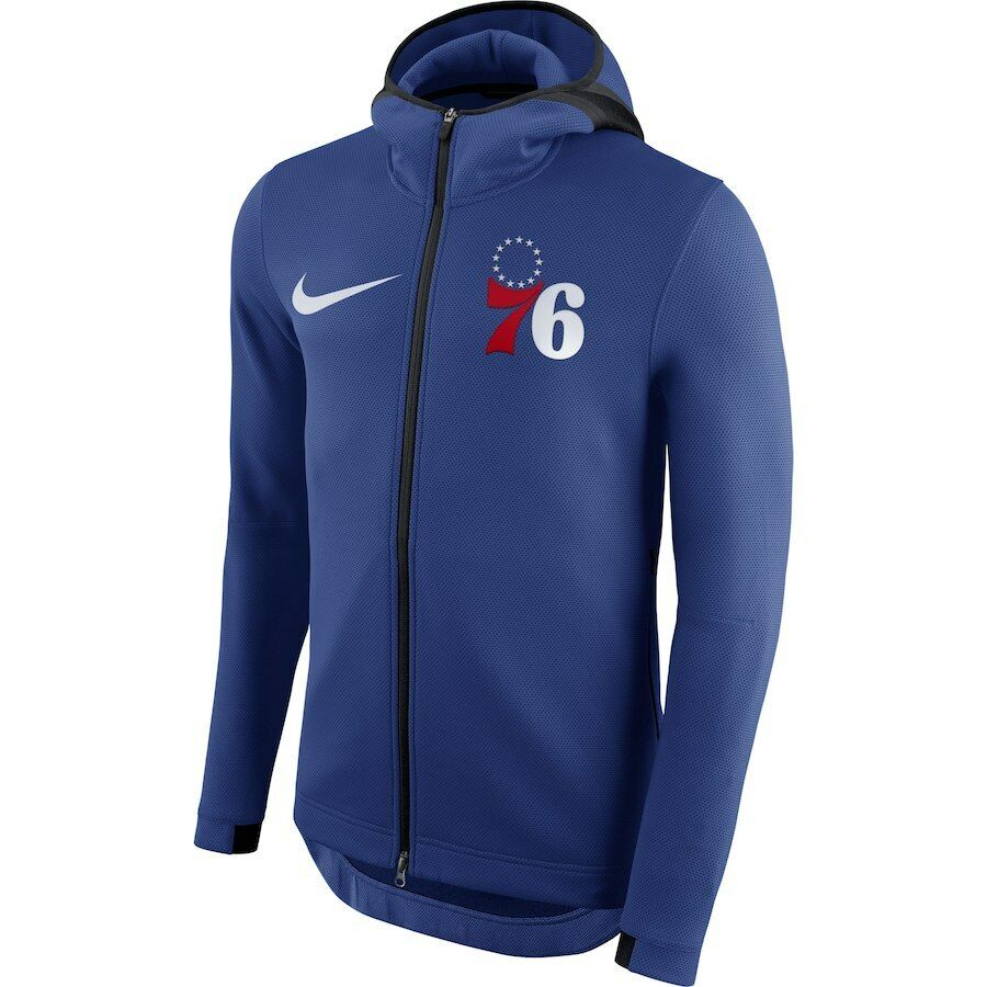 435c5640c4b Details about Nike NBA 2018-2019 Philadelphia 76ers Therma Flex Showtime On  Court Bench Hoodie