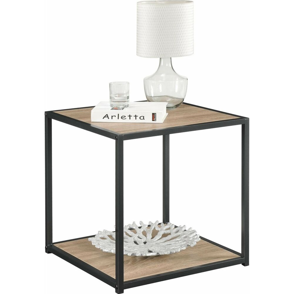 Details About Product Of Altra Canton Accent Table With Metal Frame Sonoma Oak