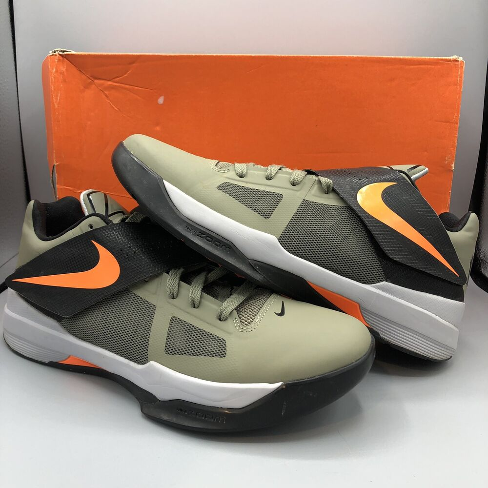 3f1b79880b89 Details about Nike Zoom KEVIN DURANT KD IV 4 ROGUE GREEN ORANGE UNDFTD  473679-302 Size 10.5