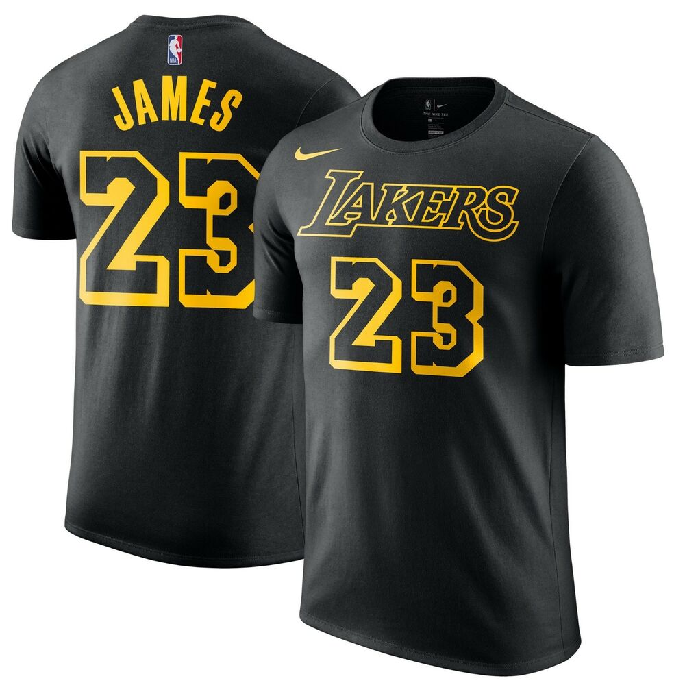 501fa966b Details about Nike 2018 Los Angeles Lakers LeBron James City Edition Dri-FIT  Player T-Shirt