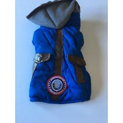 Silver Paw LuvGear coldAlert! Quilted Blue Jacket - Size Extra Small