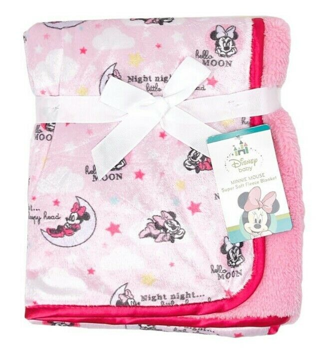 Details about NEW ADORABLE DISNEY BABY MINNIE MOUSE SUPER SOFT FLEECE  BLANKET🍼30
