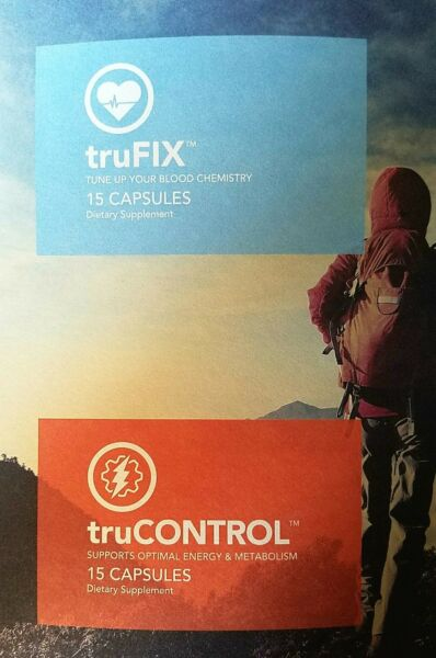 TruFIX & TruCONTROL Truvision 7.5 Day trial 1 Week Supply, 30 capsules, 15 of ea
