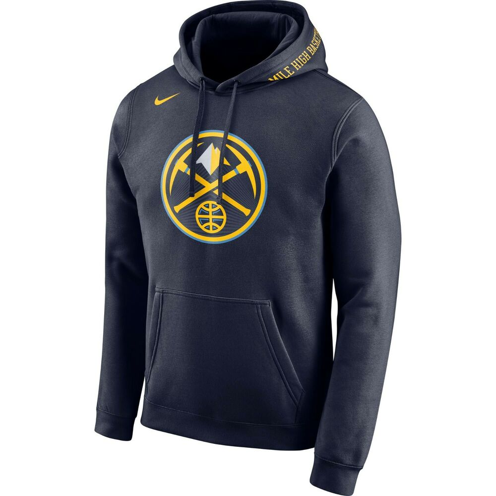 new concept 02e9e c4130 Details about Brand New 2017-2018 Nike NBA Denver Nuggets City Edition Logo  Club Hoodie