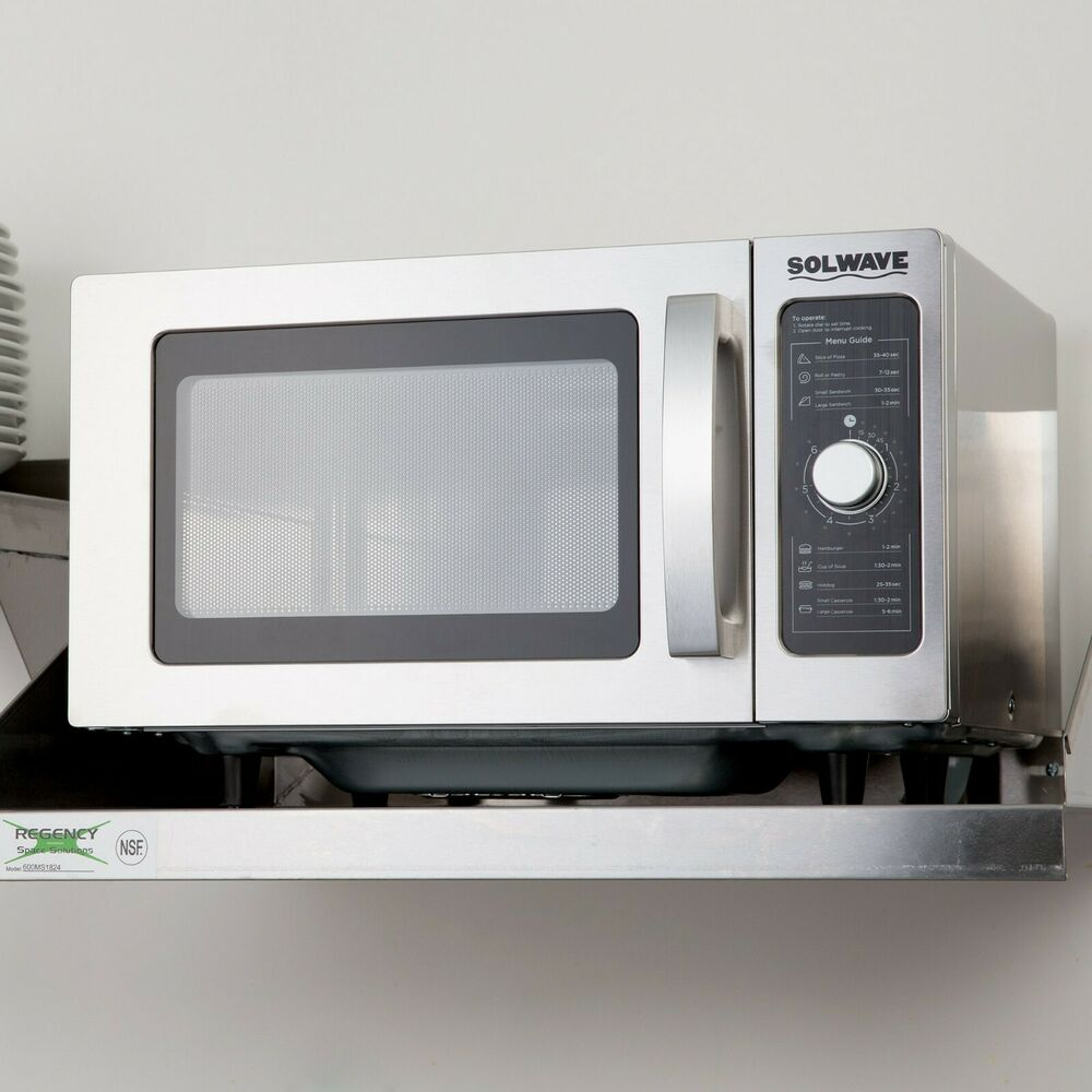 Details About Solwave Stainless Steel Commercial Microwave With Dial Control 120v 1000w