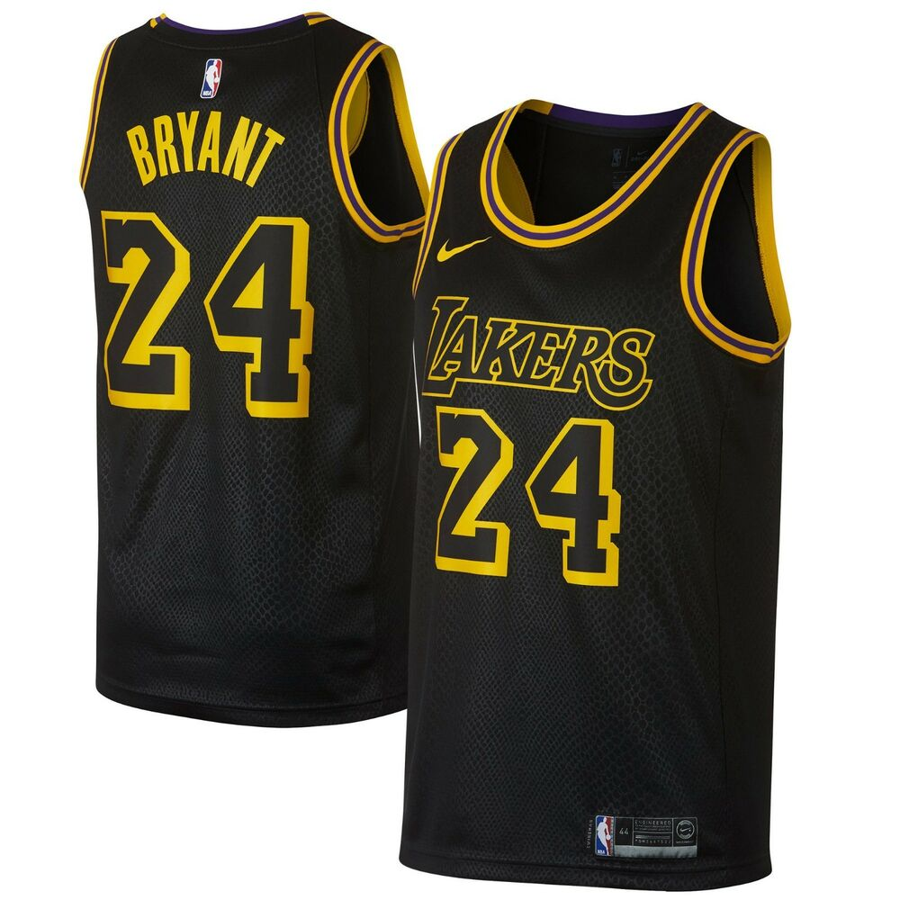 24daf4a98 Details about New 2018 Nike NBA Los Angeles Lakers Kobe Bryant 24 City  Edition Swingman Jersey