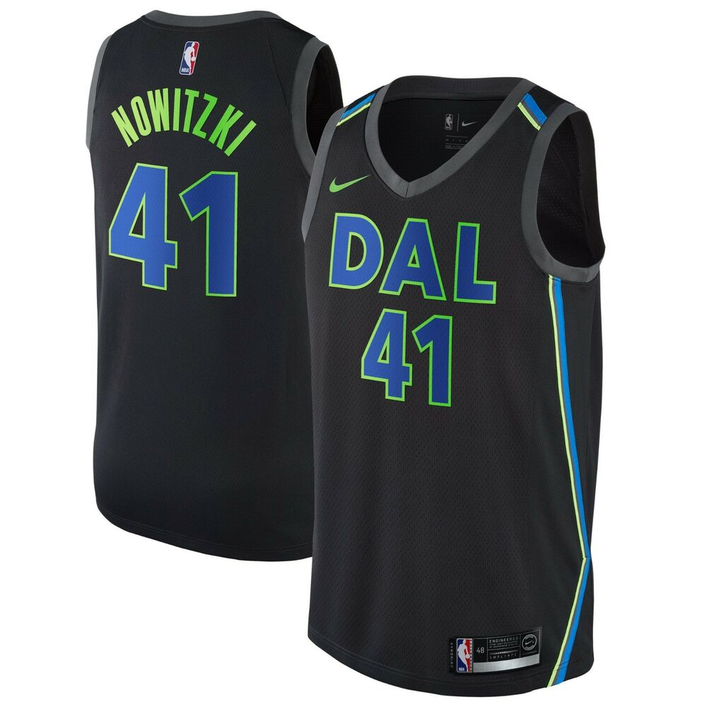 18b555d11 Details about New 2018 Nike NBA Dallas Mavericks Dirk Nowitzki 41 City  Edition Swingman Jersey