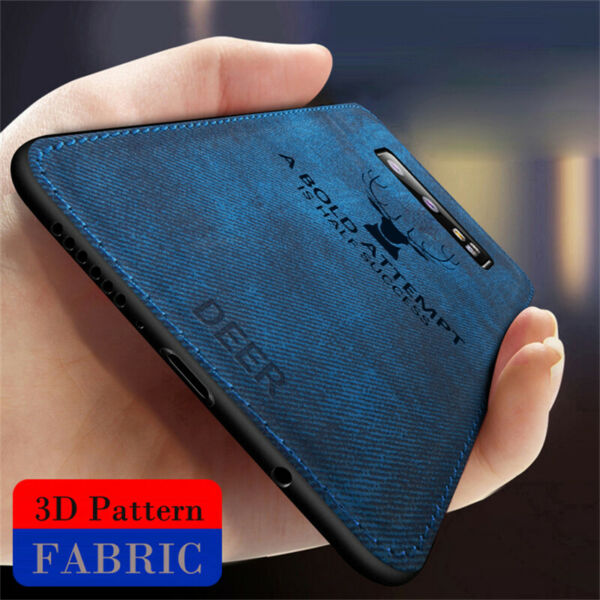 For Samsung Galaxy S10 Plus Note10 Case Hybrid Soft TPU Leather Matte Back Cover