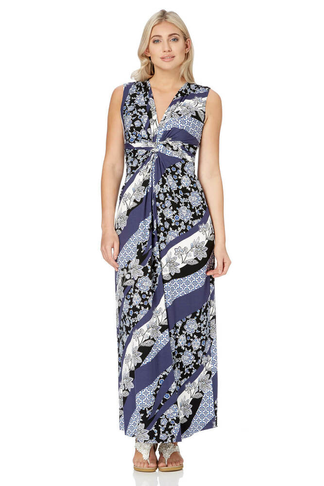 603b9fc6ce Details about Roman Originals Women Tropical Print Maxi Dress