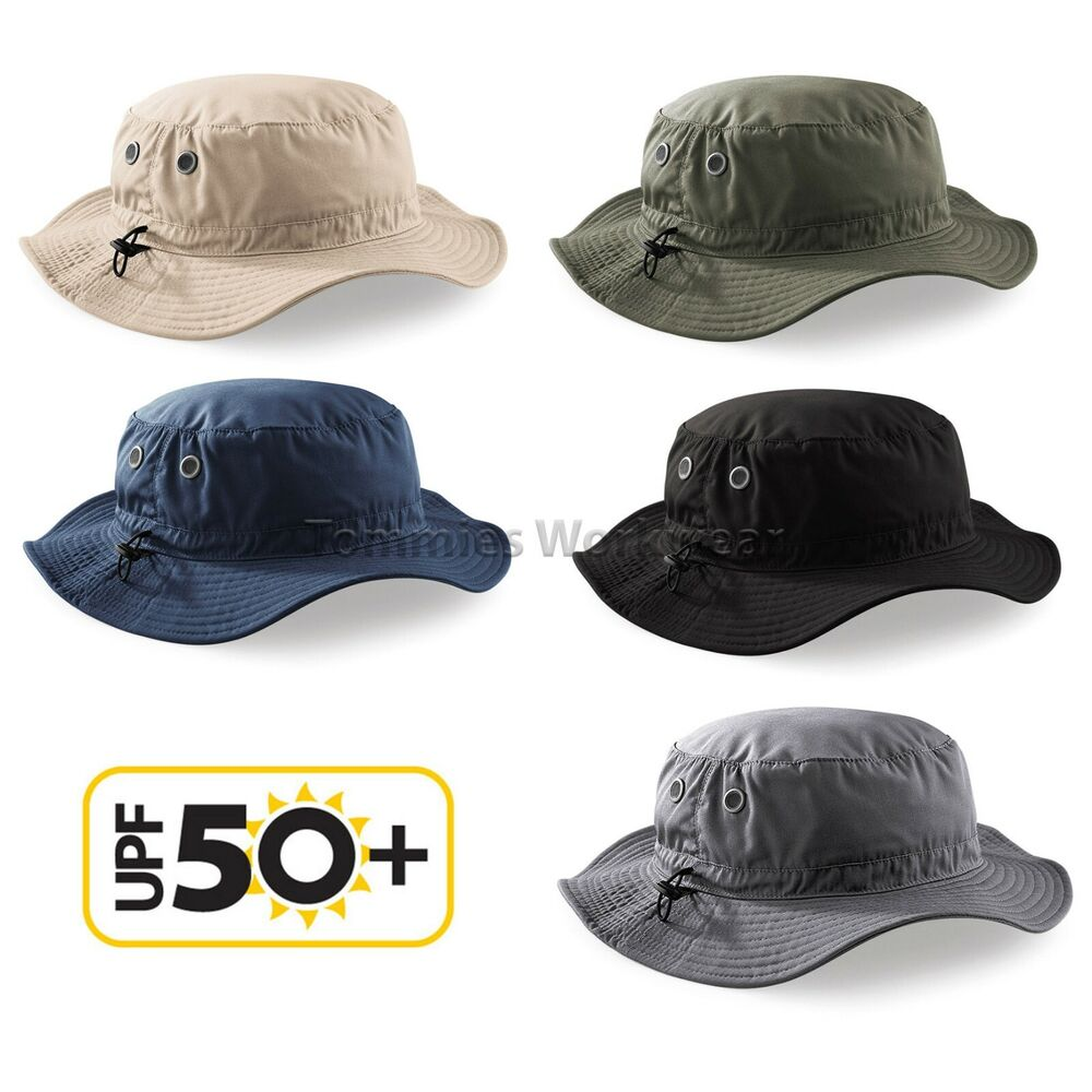 7c848231d20 Details about Beechfield Cargo Bucket Hat UPF 50+ Sun Protection Fishing  Safari Summer (B88)