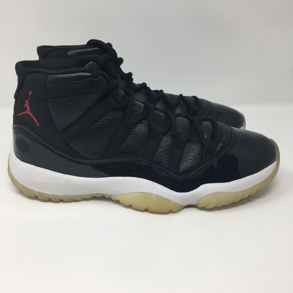 huge discount a17fe 0c87c Details about Nike Air Jordan XI 11 Retro 72-10 BLACK GYM RED WHITE GREY  BRED 378037-002 11.5