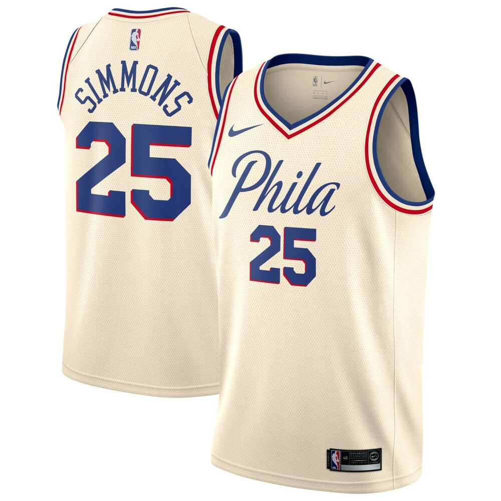 8cc1b7018 Details about New 2018 Nike NBA Philadelphia 76ers Ben Simmons City Edition  Swingman Jersey