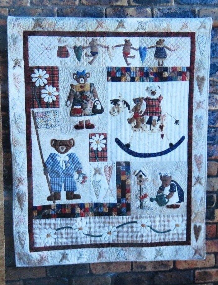 Details About Lynette Anderson Patchwork Angel ALL MY BEARS 1 8 Quilt Block Patterns Fabric