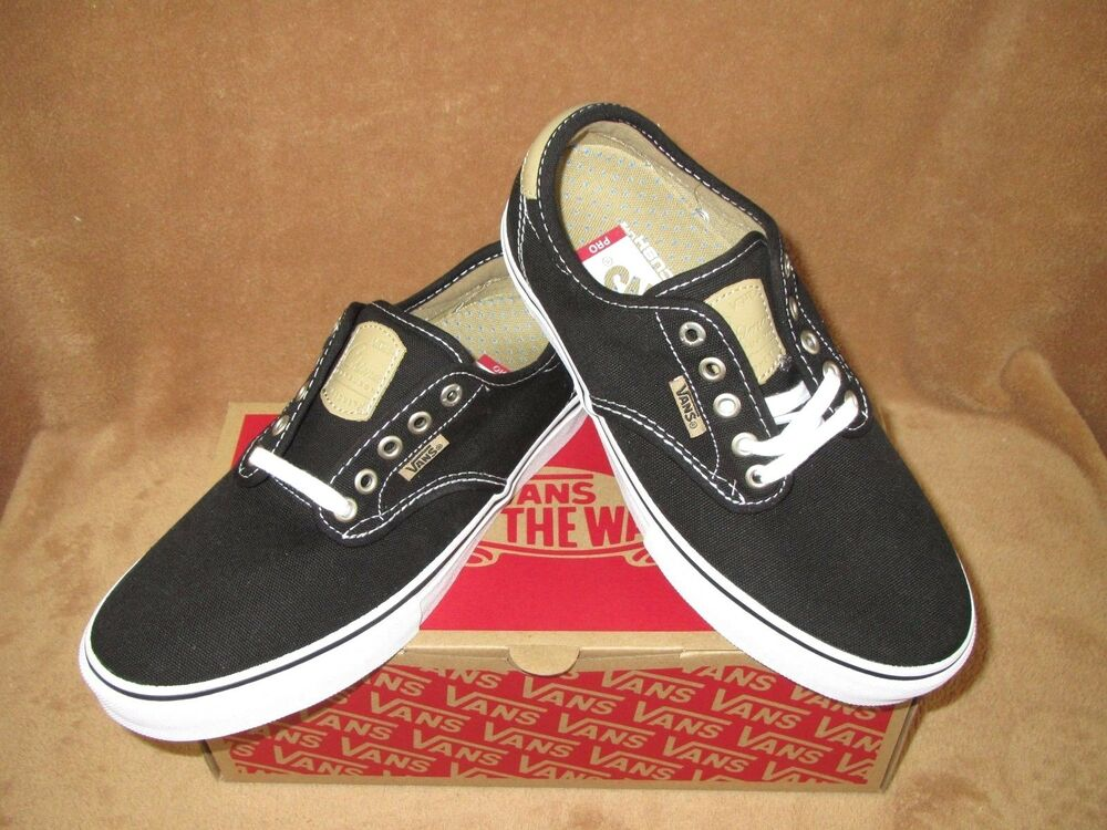 Details about NEW VANS CHIMA FERGUSON PRO SKATE SHOE BLACK WHITE TAN MENS  6.5 68fd63edb