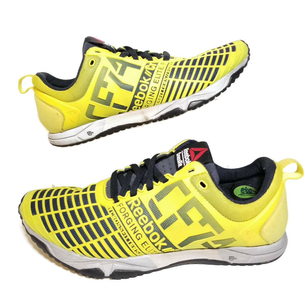 Details about Reebok Womens 6.5 Crossfit Shoes Yellow Navy Sprint TR M45388  CF74 Trainer S1 4fff9e198