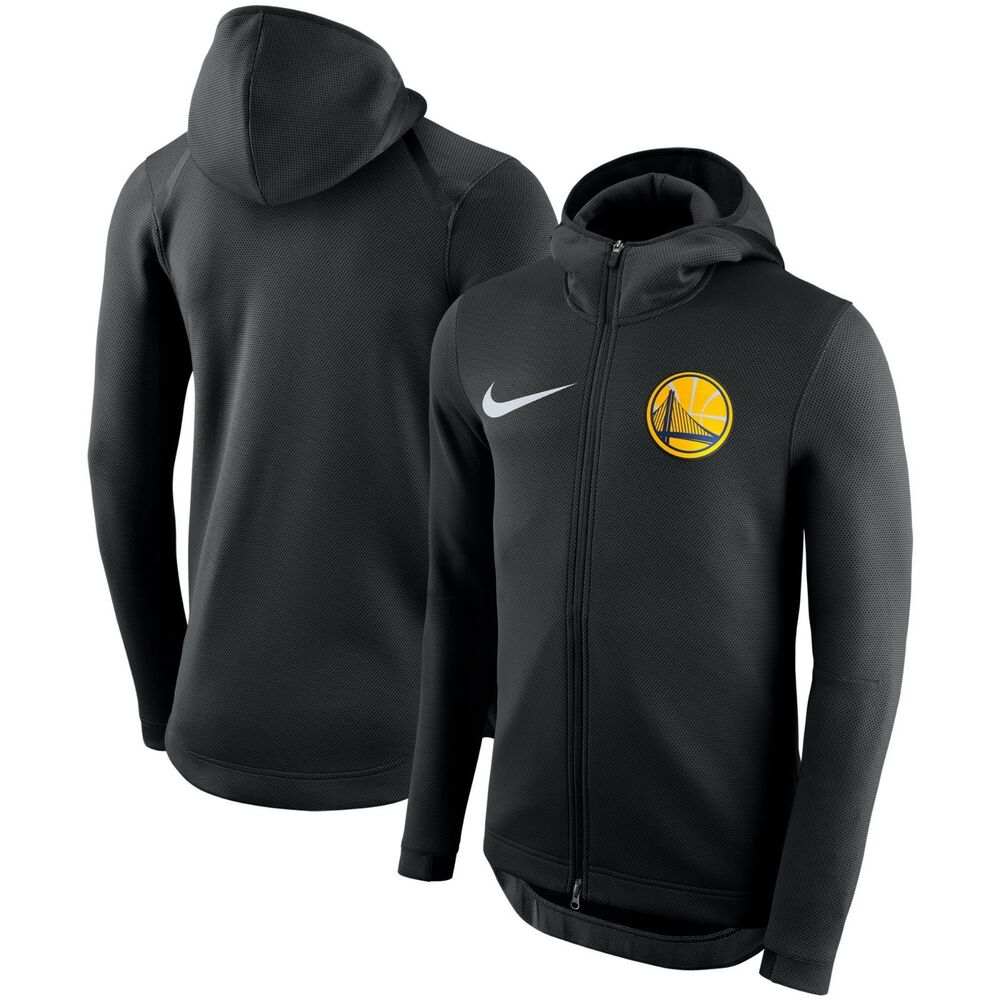 b21c0c53e Details about Nike NBA 2018-2019 Golden State Warriors Therma Flex Showtime  Court Bench Hoodie