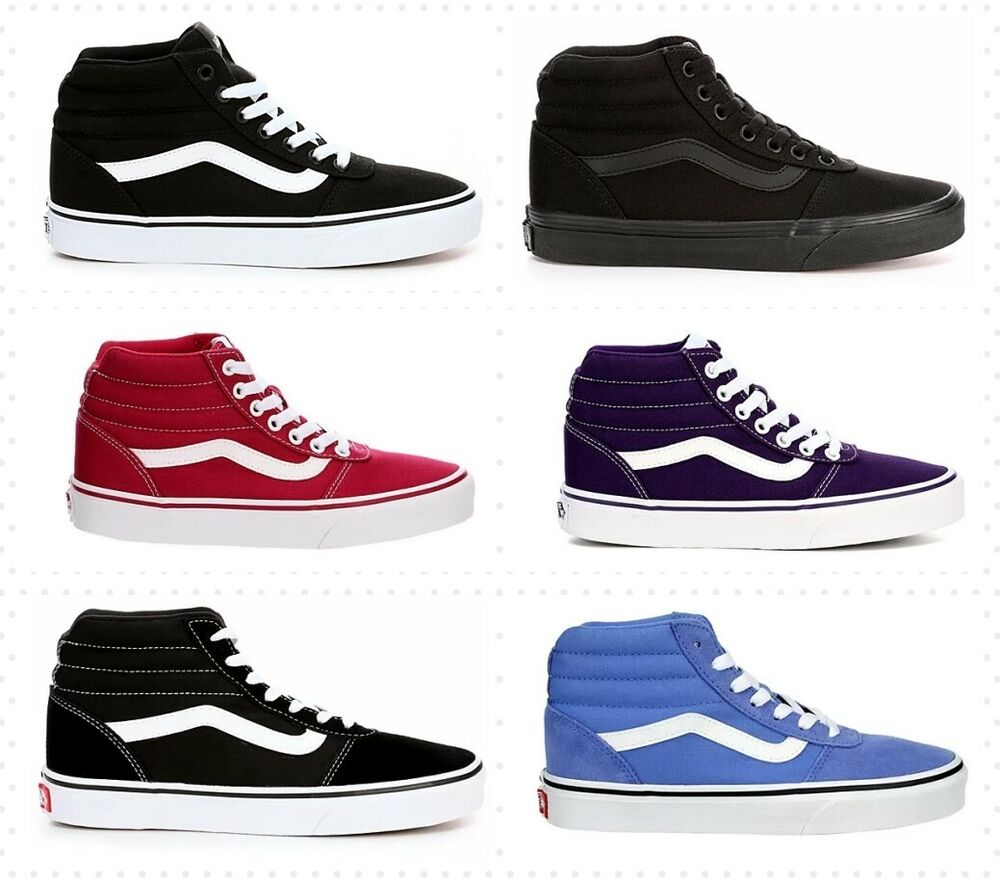 a90a778bf90 Details about VANS WARD SNEAKERS FOR WOMEN NIB CASUAL SKATE SHOES HIGH TOP