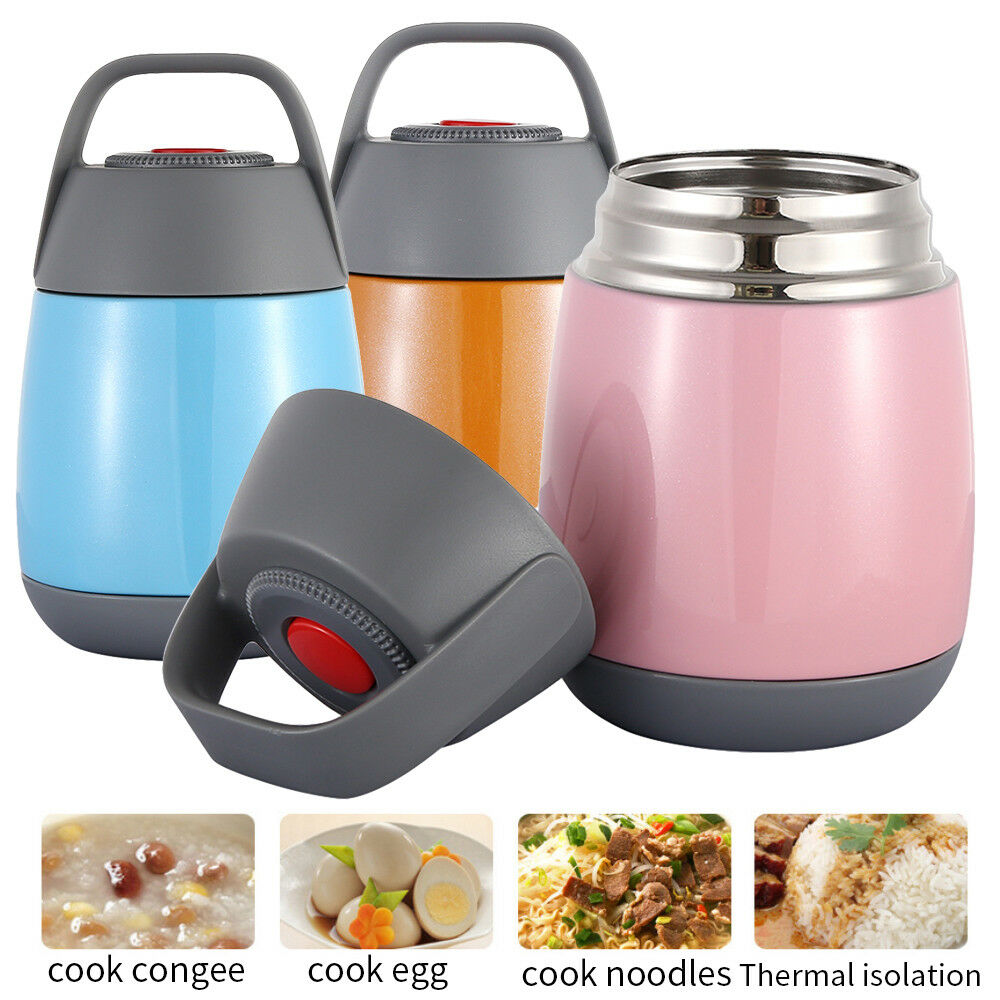 Bon Details About 500ML Food Vacuum Flask Container Storage Warm Soup Heart  Travel Work Thermos