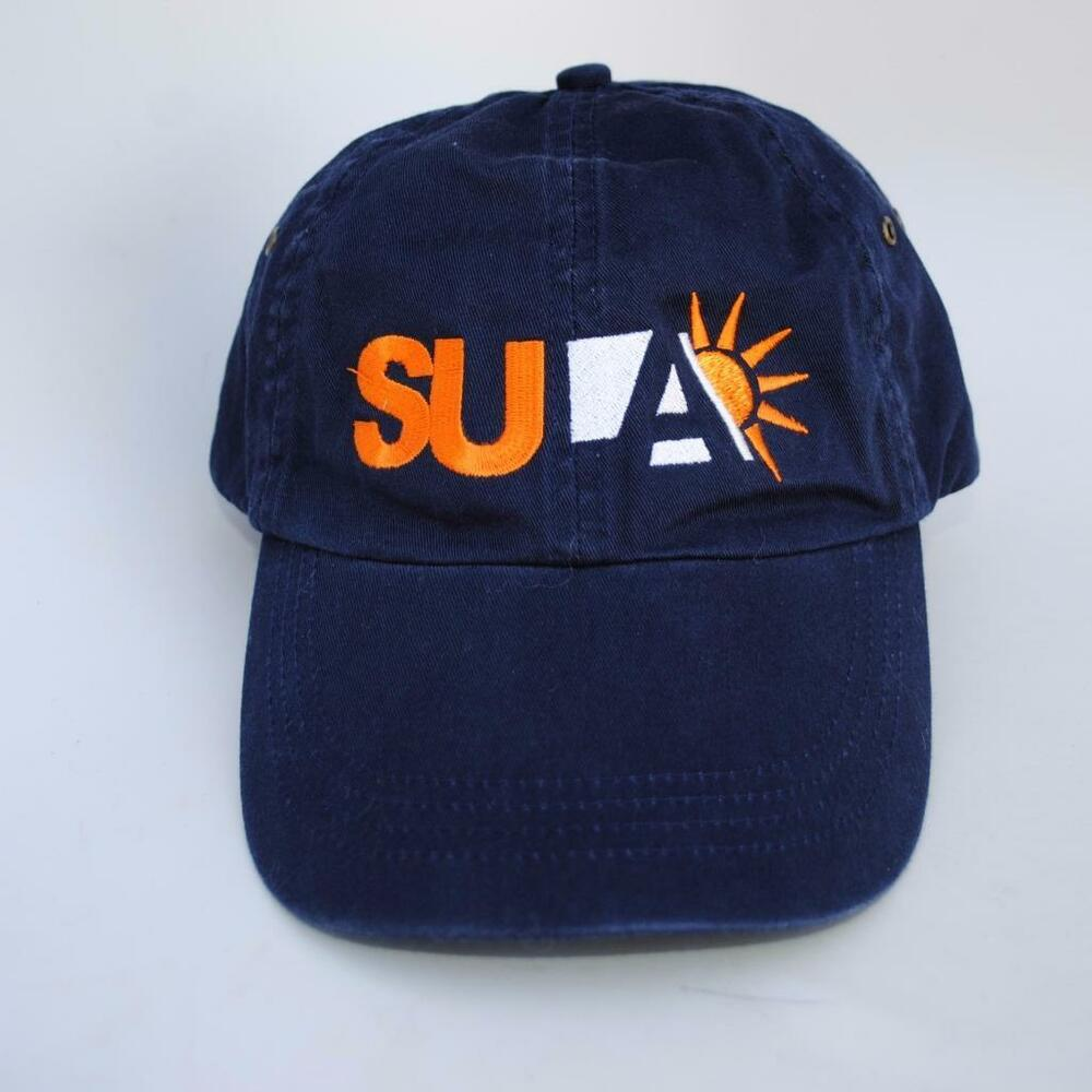 fa1ee62a73a6d Details about SU A Blue Dad Hat Baseball Cap Adjustable Strapback