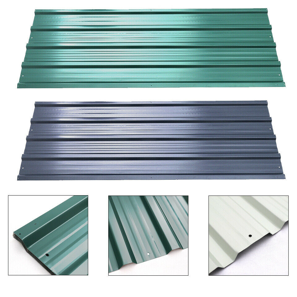 12x Zinc Metal Roof Sheet Corrugated Garage Shed Profile