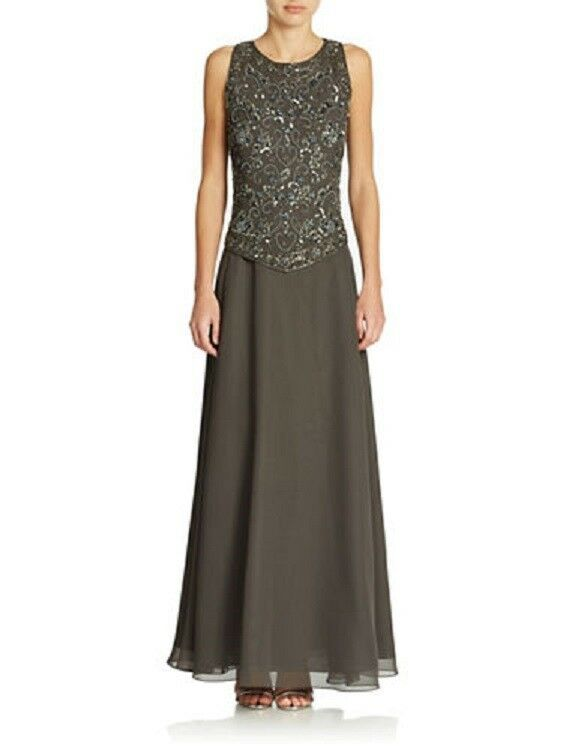 $468 J KARA WOMEN'S GRAY BEADED EMBELLISHED