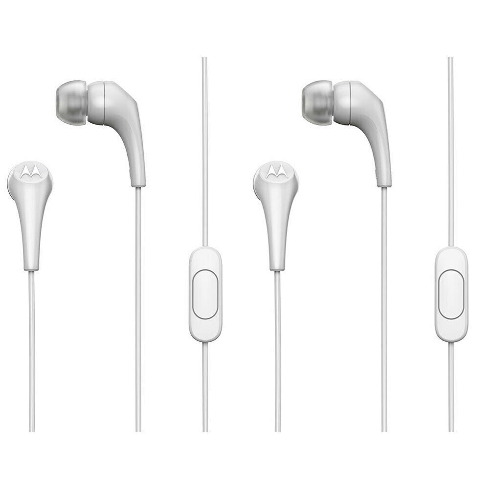 134cfd34add Details about 2x Motorola Earbuds 2 In-Ear Stereo Headphones/Headset  In-Line Microphone White