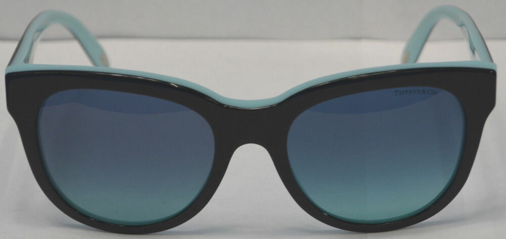 e4b82f69f034c TIFFANY   CO. TF 4112 8055 9S Black Blue Sunglasses Size 53-19-140 ...