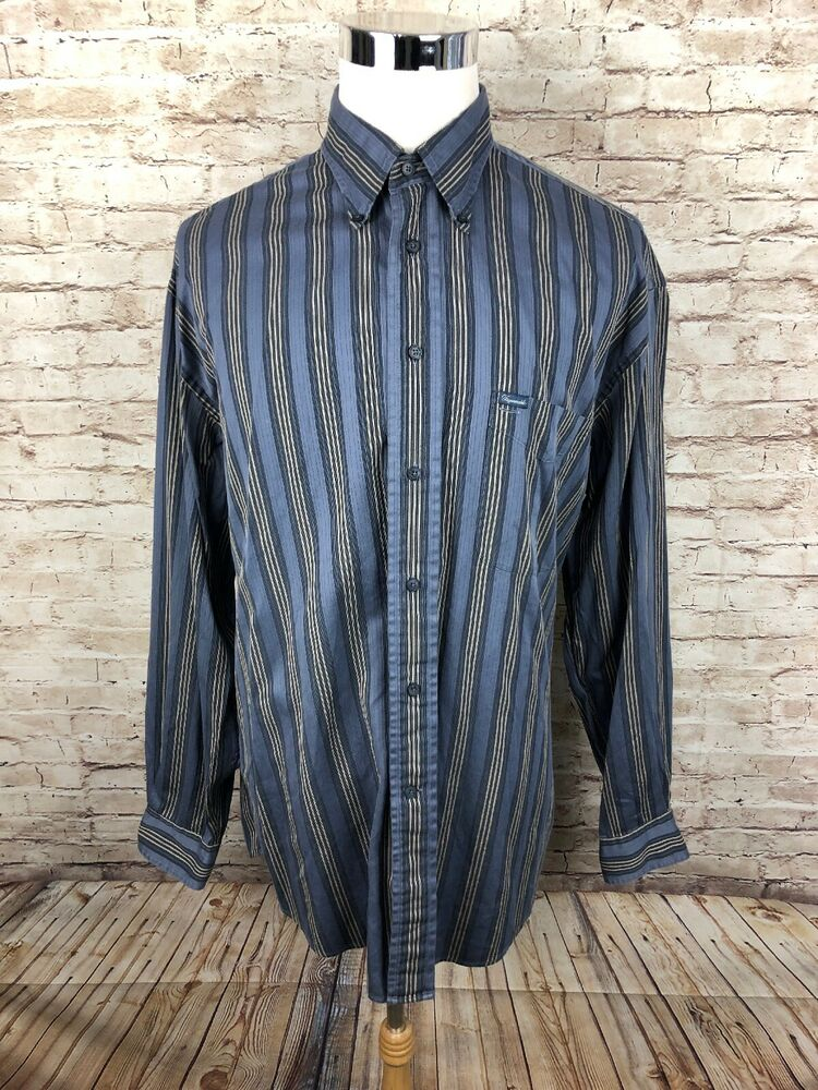 447f6cce Details about Faconnable Multi Color Striped Mens Long Sleeve Button Down  Shirt XL
