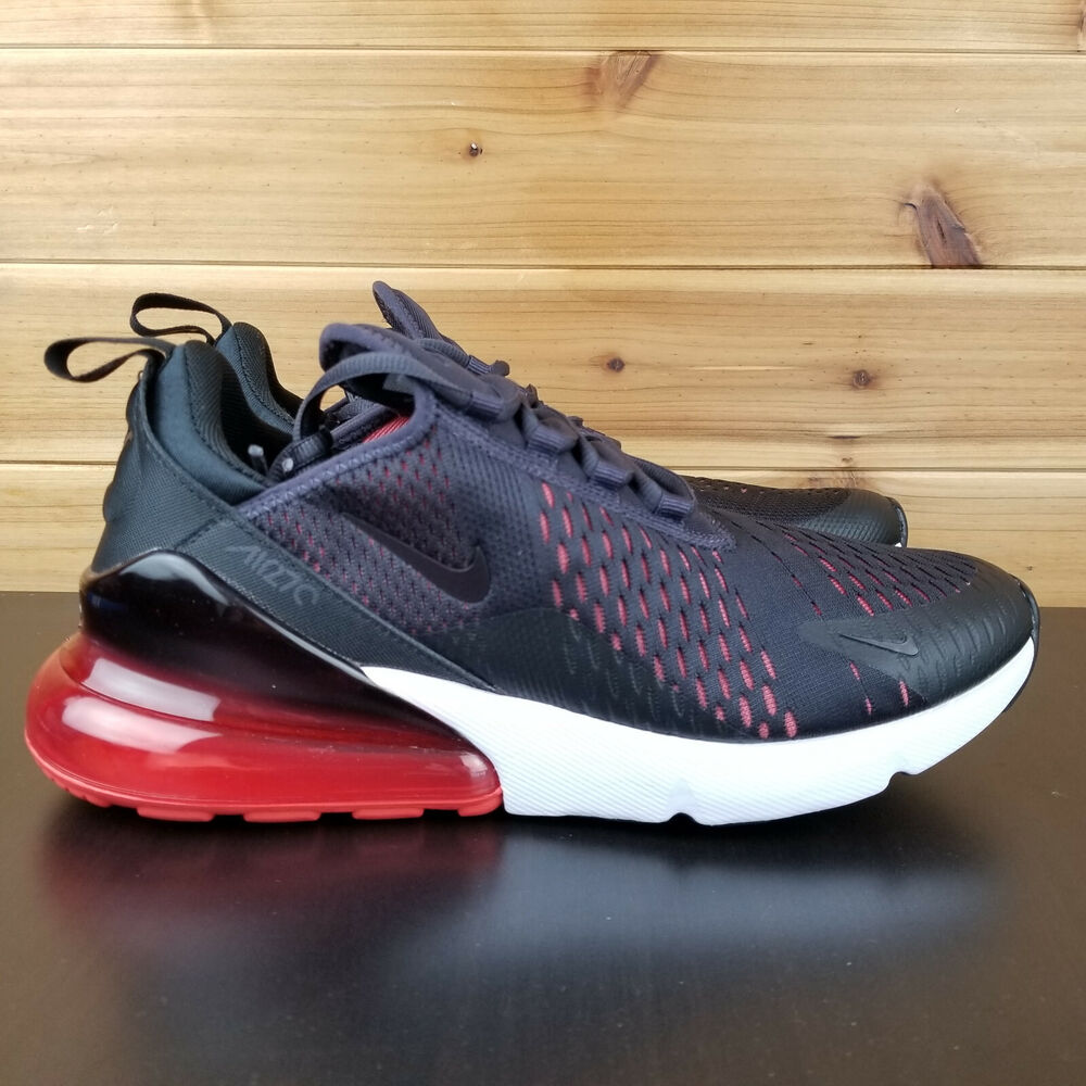 pretty nice d22f5 3dae1 Details about Nike Air Max 270 Running Men s Shoes Oil Grey Black Habanero  Red AH8050-013