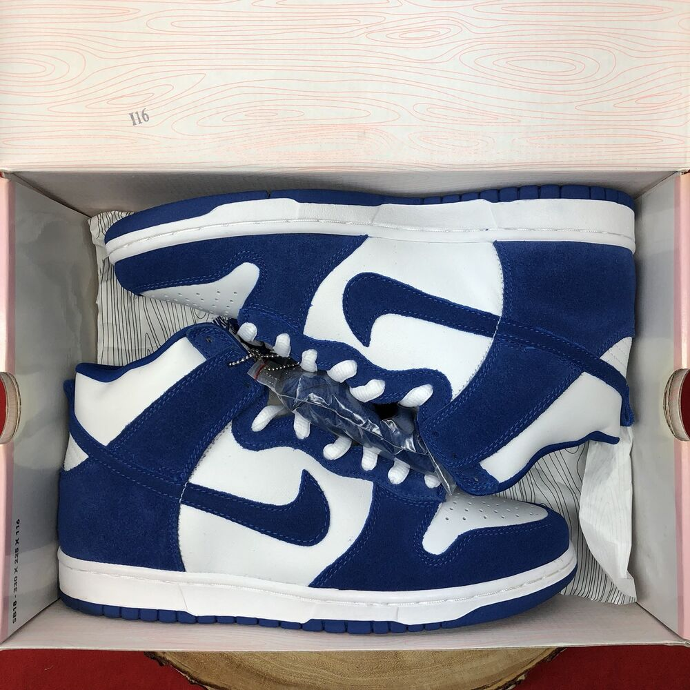 new concept 7f37a 3ea9c Details about Nike Dunk High Pro SB KENTUCKY WILDCATS BTTYS WHITE SPORT  ROYAL 305050-142 SZ 9