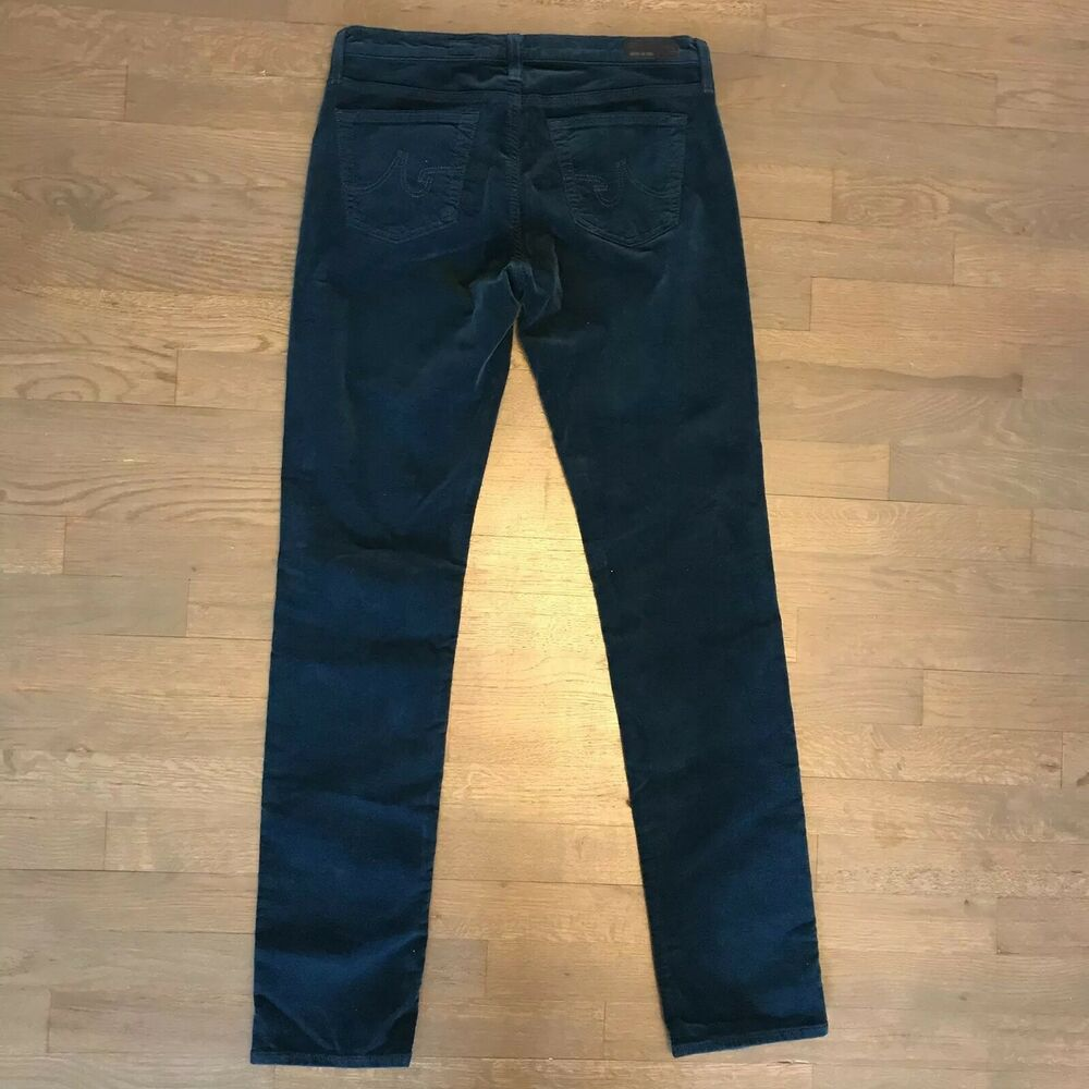 b3c0b0563a4 Details about AG Adriano Goldschmied The Stevie Slim Straight Leg Corduroy  Stretch Pants 29R