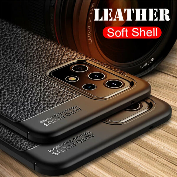 For Samsung Galaxy A70 A50S A30S A10S Shockproof Rubber Soft Leather Case Cover
