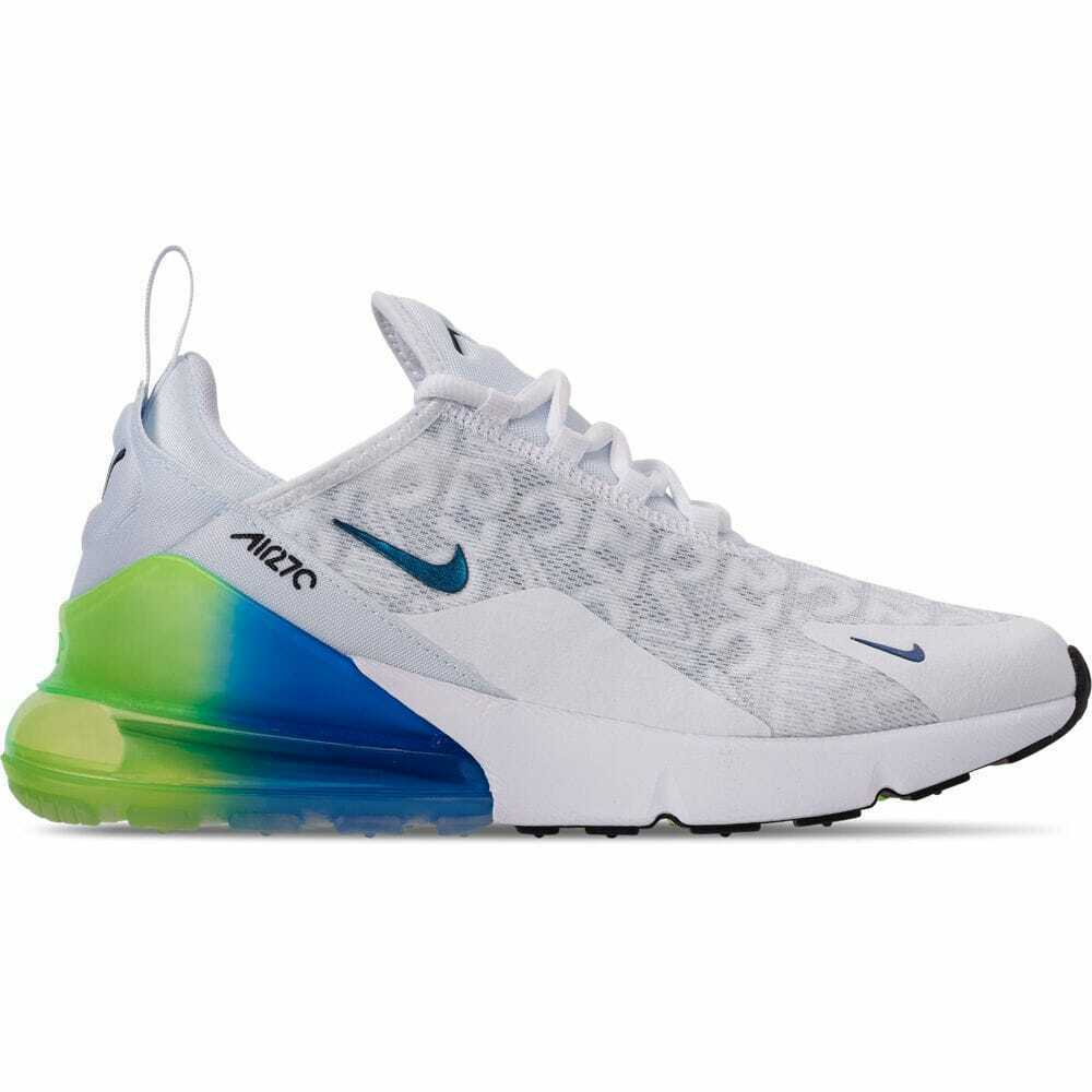 newest 2479f c789a Details about Men s Nike Air Max 270 SE Casual White White Lime Blast Photo  Blue AQ9164 100
