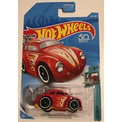 Hot Wheels 2018 Tooned VOLKSWAGEN BEETLE * Red * Super Fast Shipping * 25A