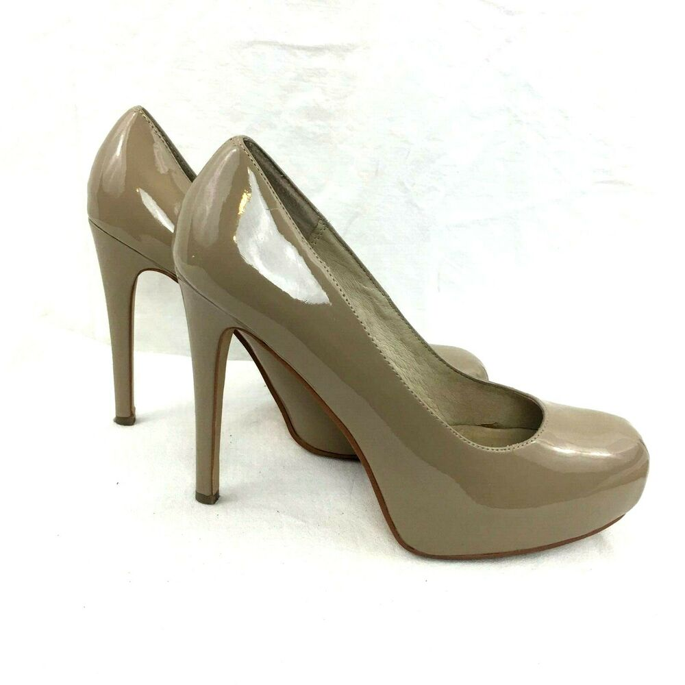 4486a5bfe1 Details about Chinese Laundry Whistle Nude Patent Platform Pumps Women's  Size 10M High Heels