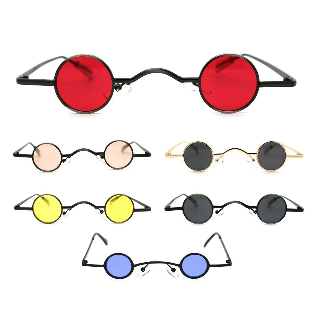 f1d9bbc80 Details about Super Ditsy Small Round Circle Lens Bug Eye Runway Hippie  Sunglasses