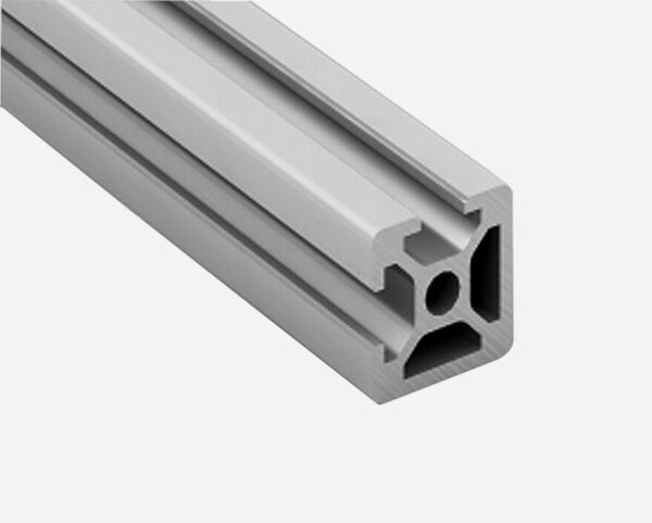 Profil Aluminium Section 20x20mm 2 plats, aluminium 6065-T Anodisé 2 rainures.