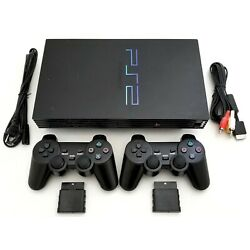 Kyпить 2 WIRELESS CONTROLLERS Sony PS2 Game System Gaming Console PLAYSTATION-2 Black на еВаy.соm