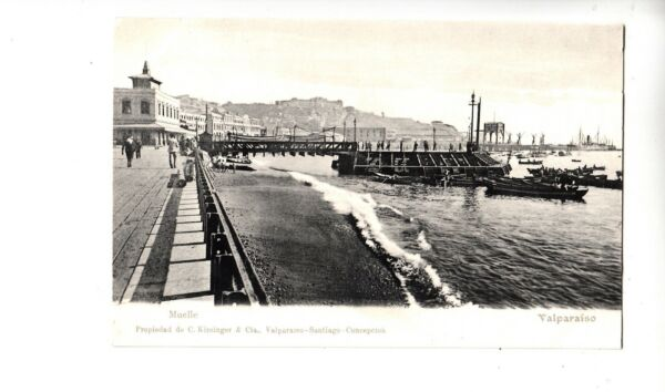 B81780 muelle valparaiso  chile front/back image