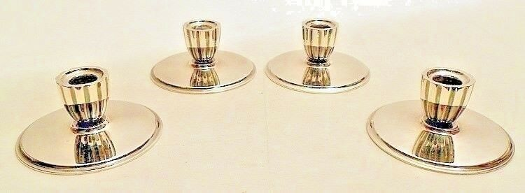Details About Sterling Silver Candlesticks Set Of 4 Georg Jensen Denmark Dated 1958