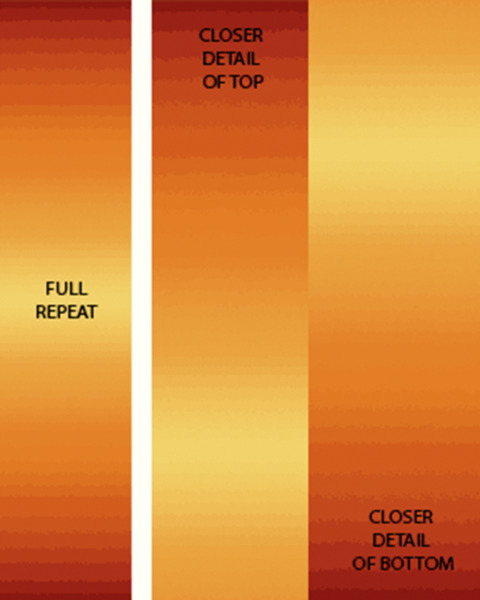 SALE*CARYL B FALLERT*OMBRE GRADATION**MARIGOLD*GREAT FOR BORDERS/1/2 METRE